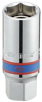 """Головка свечная шестигранная 1/2"""", 21 мм, магнитный фиксатор KING TONY 466521 - фото 11033"""