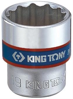 "Головка торцевая стандартная двенадцатигранная 3/8"", 16 мм KING TONY 333016M - фото 11119"