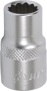 """Головка торцевая стандартная двенадцатигранная 1/2"""", 16 мм МАСТАК 000-42016 - фото 11140"""