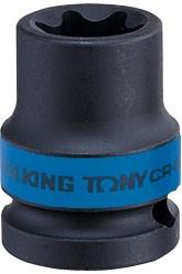 "Головка торцевая ударная TORX Е-стандарт 1/2"", E18, L = 38 мм KING TONY 457518M - фото 11172"