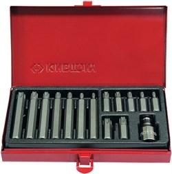 Набор вставок (бит) 10 мм, TORX, Т20-Т55, 15 предметов KING TONY 1015PQ - фото 11188