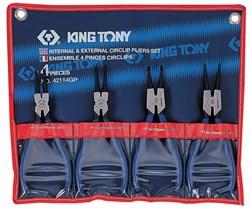Набор съемников стопорных колец, 4 предмета KING TONY 42114GP - фото 11198