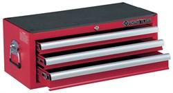 Ящик инструментальный, 3 ящика, красный KING TONY 87421-3B - фото 11202