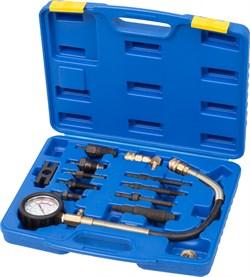 Компрессометр дизельный, 0-70 атм, комплект адаптеров МАСТАК 120-11070C - фото 11204