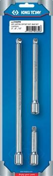 """Набор удлинителей 3/8"""", 75, 150, 250 мм, 15 градусов, с шаровым окончанием, 3 предмета KING TONY 3103PR - фото 11231"""