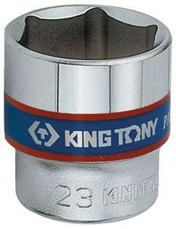 "Головка торцевая стандартная шестигранная 3/8"", 13 мм KING TONY 333513M - фото 11256"