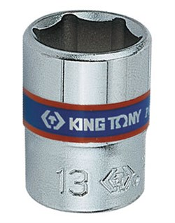 "Головка торцевая стандартная шестигранная 1/4"", 12 мм KING TONY 233512M - фото 11261"