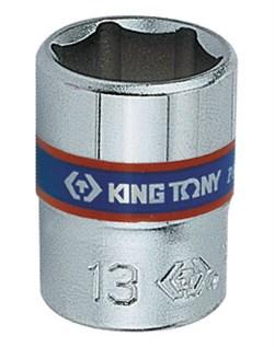 "Головка торцевая стандартная шестигранная 1/4"", 14 мм KING TONY 233514M - фото 11328"