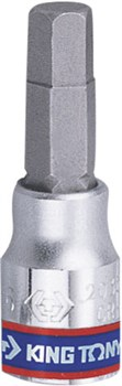 """Насадка (бита) торцевая 1/4"""", HEX, 6 мм, L = 37 мм KING TONY 203506 - фото 11334"""