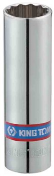 "Головка свечная двенадцатигранная 1/2"", 14 мм, L = 70 мм, резиновый фиксатор KING TONY 463014RC - фото 11380"