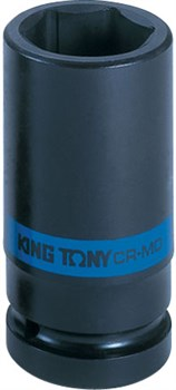 "Головка торцевая ударная глубокая шестигранная 3/4"", 27 мм KING TONY 643527M - фото 11393"