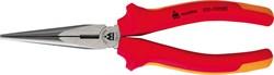 Пассатижи удлиненные тонкие прямые 200 мм, диэлектрические, держатель МАСТАК 030-10200EH - фото 11402