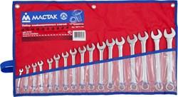 Набор комбинированных ключей, 6-22 мм, 17 предметов МАСТАК 0211-17P - фото 11433
