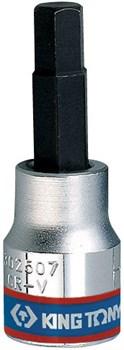 """Насадка (бита) торцевая 3/8"""", HEX, 3 мм, L = 50 мм KING TONY 302503 - фото 11515"""