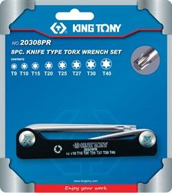 Набор Г-образных TORX, T9-T40, складные, 8 предметов KING TONY 20308PR - фото 11525