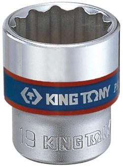 "Головка торцевая стандартная двенадцатигранная 3/8"", 15 мм KING TONY 333015M - фото 11536"
