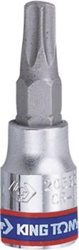 """Насадка (бита) торцевая 1/4"""", TORX T10, L = 37 мм KING TONY 203310 - фото 11558"""