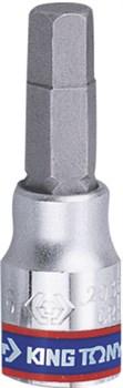 """Насадка (бита) торцевая 1/4"""", HEX, 10 мм, L = 37 мм KING TONY 203510 - фото 11559"""