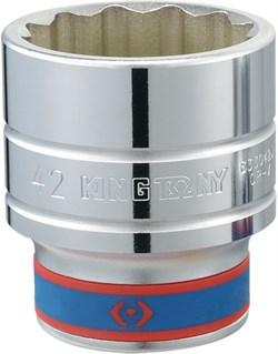"Головка торцевая стандартная двенадцатигранная 3/4"", 27 мм KING TONY 633027M - фото 11565"