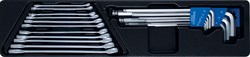 Набор комбинированных ключей и шестигранников, ложемент, 20 предметов KING TONY 9-90120MR - фото 11571