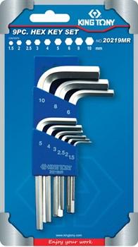 Набор Г-образных шестигранников 1,5-10 мм, 9 предметов KING TONY 20219MR - фото 11611