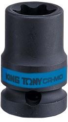 "Головка торцевая ударная TORX Е-стандарт 1/2"", E12, L = 38 мм KING TONY 457512M - фото 11615"