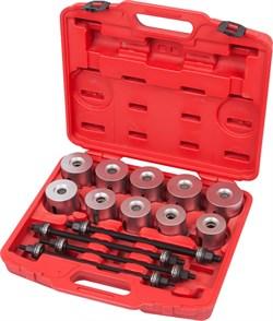 Набор оправок для монтажа и демонтажа сайлентблоков, 34-82 мм, кейс, 24 предмета МАСТАК 110-20024C - фото 11631