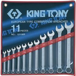 Набор комбинированных ключей, 8-24 мм, 11 предметов KING TONY 1211MR - фото 11679