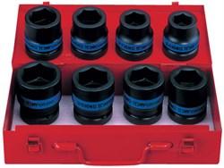 """Набор ударных торцевых головок 1"""", шестигранные, 24-41 мм, 8 предметов KING TONY 8410MP - фото 11704"""