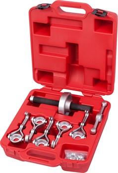 Набор для демонтажа ступиц колеса, до 250 мм, кейс, 7 предметов МАСТАК 100-41007C - фото 11837