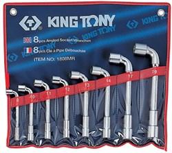 Набор торцевых L-образных ключей, 8-19 мм, 8 предметов KING TONY 1808MR - фото 12196