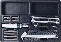 Набор разрезных ключей, ударная отвертка и съемник масляных фильтров, ложемент, 14 предметов KING TONY 9-34128FR - фото 12233