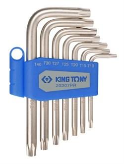 Набор Г-образных TORX, T10-T40, 7 предметов KING TONY 20307PR - фото 13448