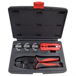 Набор для обжима и зачистки кабелей, кейс, 5 предметов МАСТАК 106-40005C - фото 14810