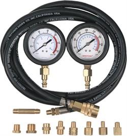 Манометр для измерения давления масла, два манометра, 0-7 и 0-28 бар МАСТАК 120-20028C - фото 15106