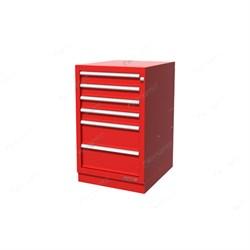 Тумба верстачная с 6 ящиками, красная FERRUM 01.406R-3000 - фото 18927