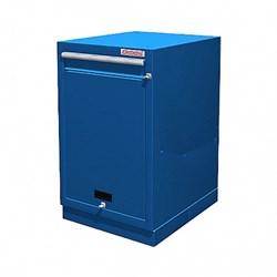 Тумба верстачная с дверцей и ящиком, синяя FERRUM 01.411-5015 - фото 18941