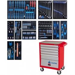 Набор инструментов в красной тележке, 235 предметов KING TONY 934-235AMR - фото 25953