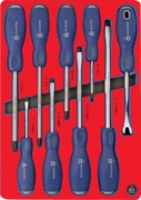 Набор отверток силовых, ложемент, 9 предметов МАСТАК 5-4009D