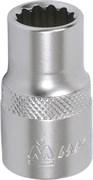 """Головка торцевая стандартная двенадцатигранная 1/2"""", 16 мм МАСТАК 000-42016"""