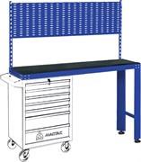 Верстак инструментальный под тележку, задняя панель, синий МАСТАК 542-11500B