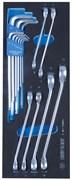 Набор разрезных ключей и шестигранники Г-образные, ложемент, 15 предметов KING TONY 9-90135MRV