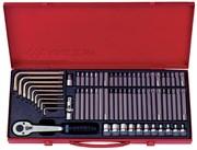 "Набор вставок (бит) 3/8"", TORX, SPLINE, HEX, 69 предметов  KING TONY 5169PR"