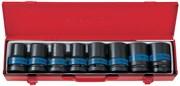 """Набор ударных торцевых головок 1"""", шестигранные, тонкостенные, 17-41 мм, 8 предметов KING TONY 8408MP"""