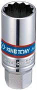 """Головка свечная двенадцатигранная 3/8"""", 18 мм, пружинный фиксатор KING TONY 36A018"""