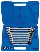 Набор комбинированных трещоточных ключей, 8-19 мм, кейс, 13 предметов KING TONY 13113MR