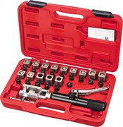 Набор для развальцовки трубок с гидравлическим поршнем, кейс, 30 предметов МАСТАК 102-10031C