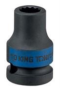 """Головка торцевая ударная двенадцатигранная 1/2"""", 17 мм KING TONY 453017M"""
