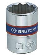 "Головка торцевая стандартная двенадцатигранная 1/4"", 14 мм KING TONY 233014M"