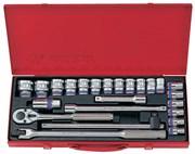 """Набор торцевых головок с принадлежностями 1/2"""", двенадцатигранные, 10-32 мм, 24 предмета KING TONY 4026MR"""